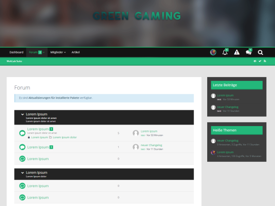WSF 5.0 Foren Stil | Green Gaming