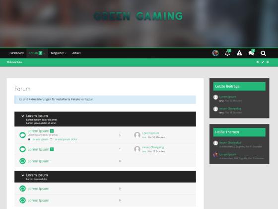 WSF 5.0 Foren Stil   Green Gaming
