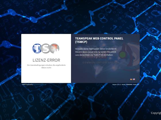 TSWCP Lizenz-Error